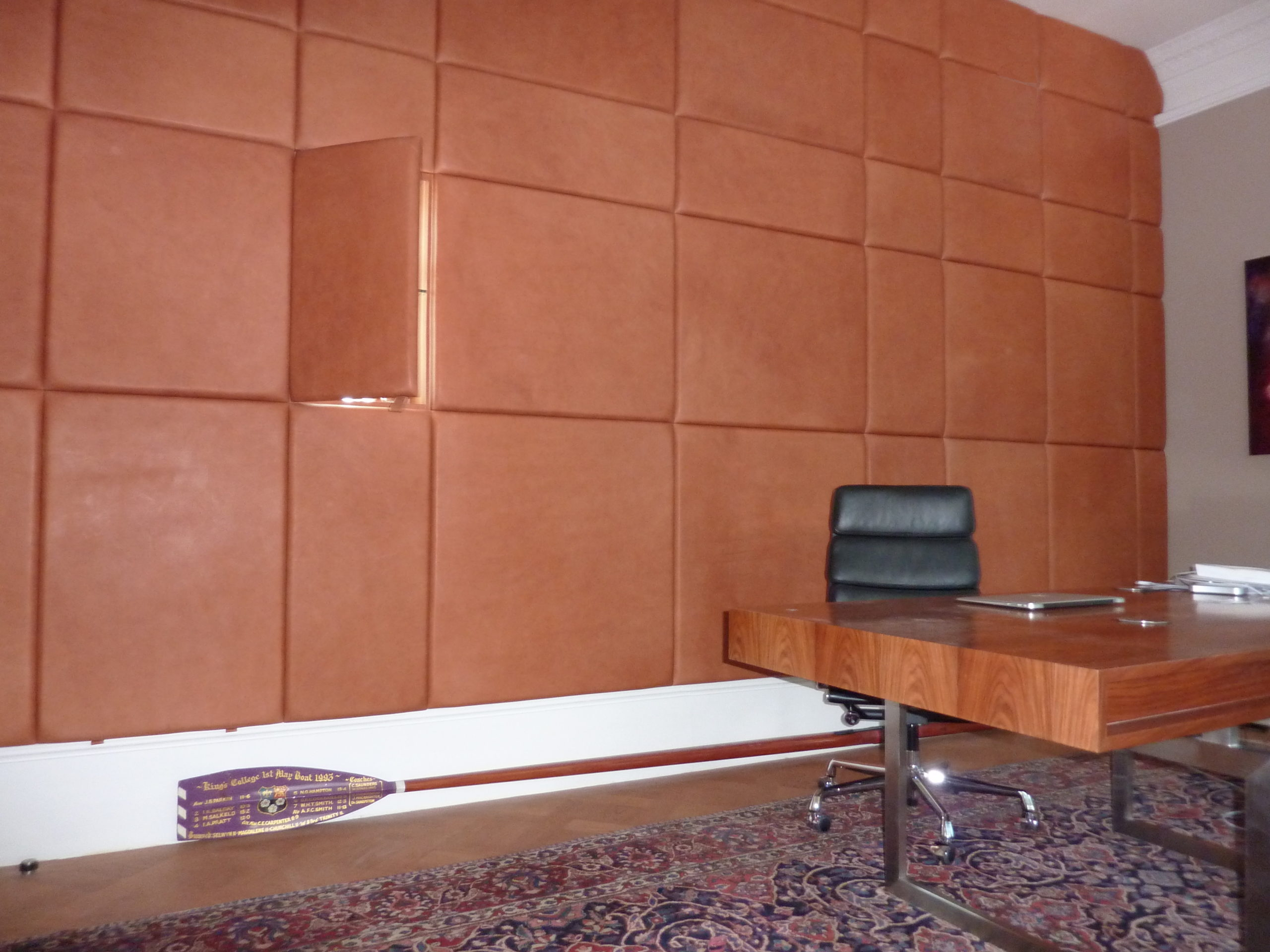 padded leather wall