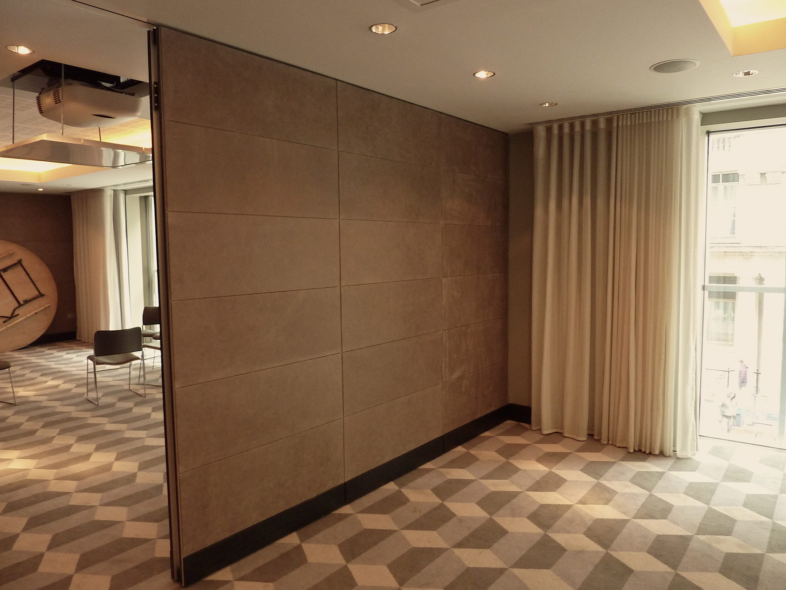 leather covered partitions