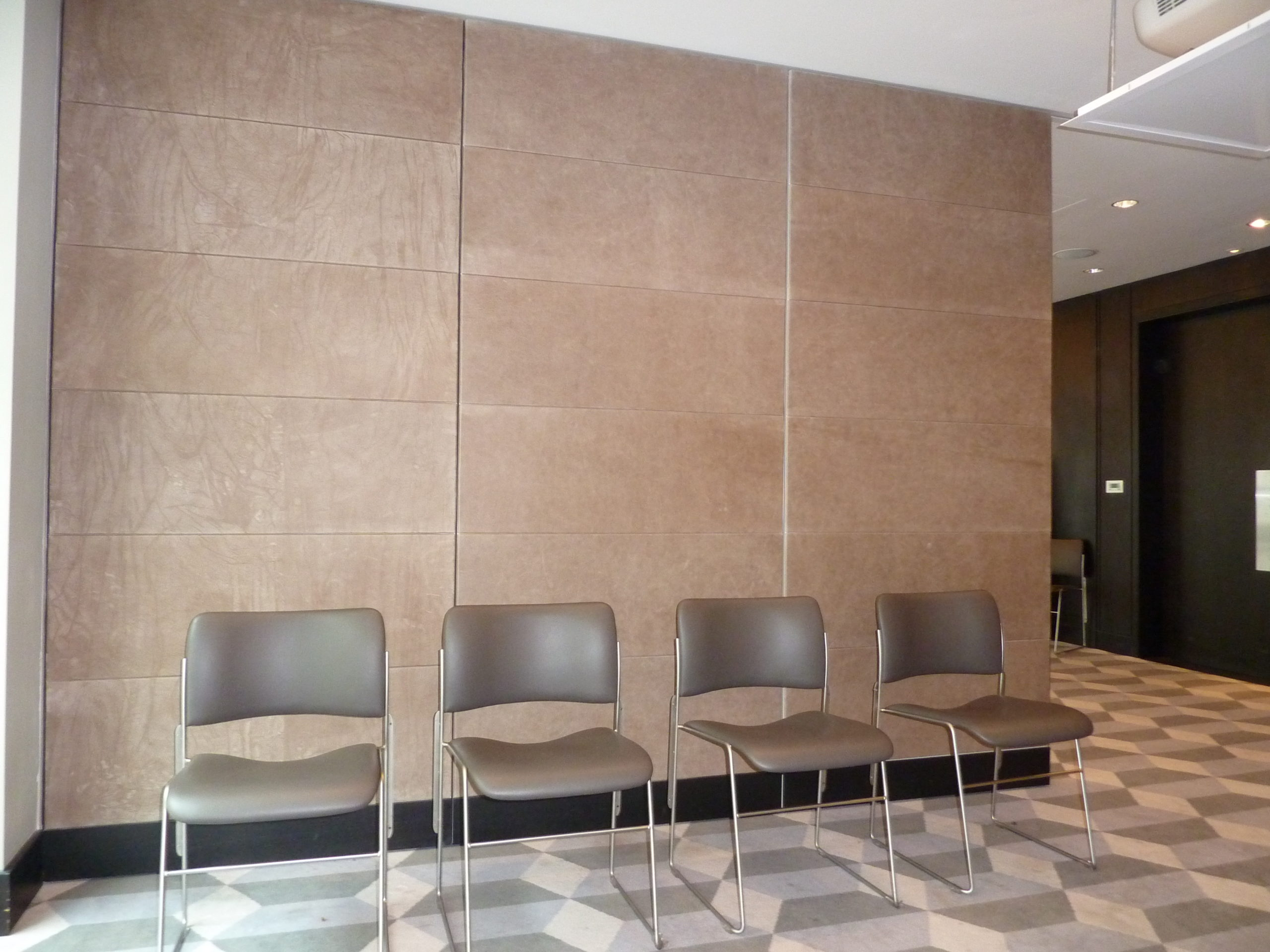 leather panelled partition doors